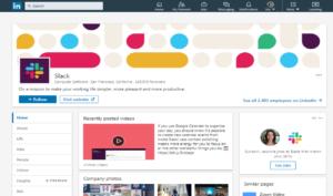 Slack social media LinkedIn